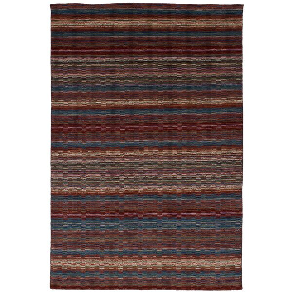 One-of-a-Kind Groom Hand-Knotted Wool Red Area Rug by Isabelline