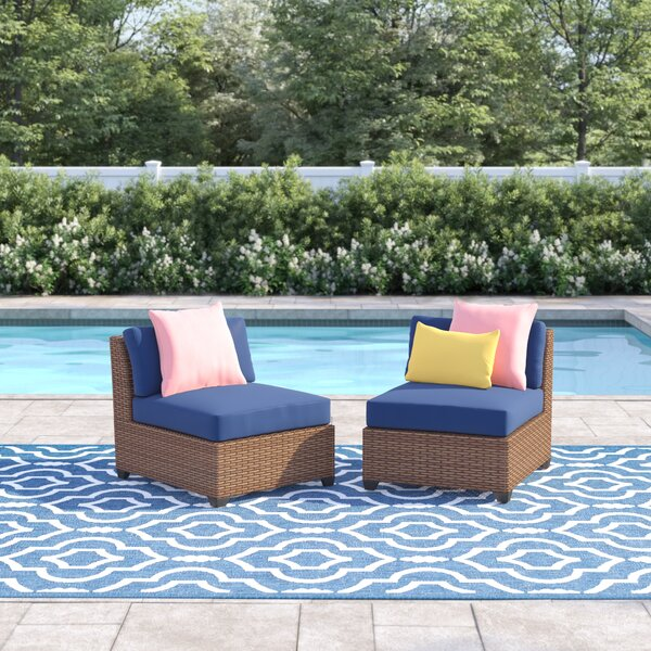 Waterbury 2 Piece Rattan Seating Group with Cushions by Sol 72 Outdoor