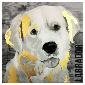 Love My Labrador Graphic Art on Canvas by Wrought Studio