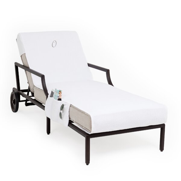 Personalized Standard Patio Chaise Lounge Cover with Side Pockets by Breakwater Bay