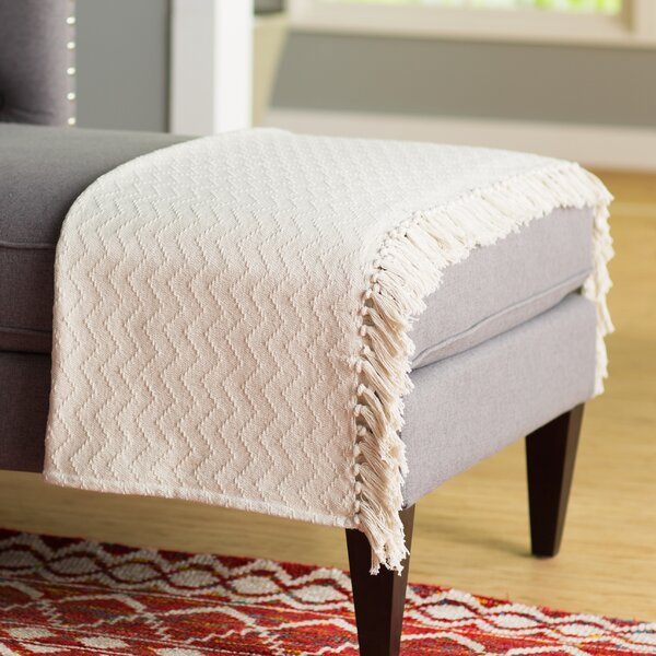 Helman Cotton Throw Blanket by Mercury Row