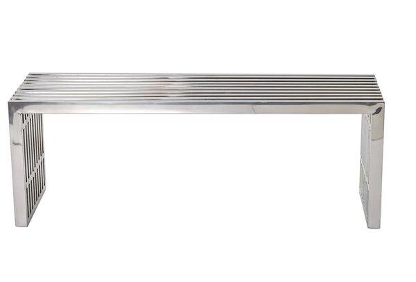 Papadopoulos Strips Metal Bench by Orren Ellis Orren Ellis