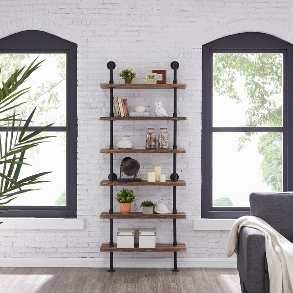Edwa Iron Pipe Wall Mount Ladder Bookcase by Williston Forge