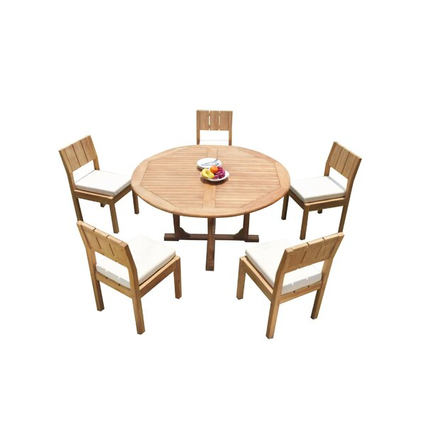 Gerke 6 Piece Teak Dining Set by Rosecliff Heights