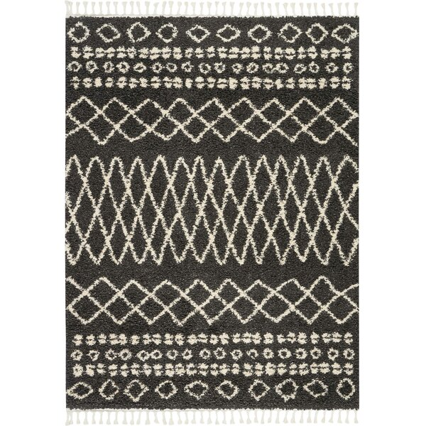 Iverson Moroccan Tribal Black/Beige Area Rug by Union Rustic