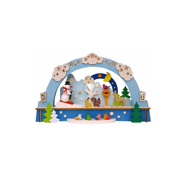 Graupner Christmas Arch with Snowman and LED Lighting Tree Topper by Alexander Taron