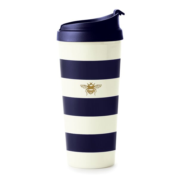 Thermal Mug, Navy Stripe & Bee by kate spade new y