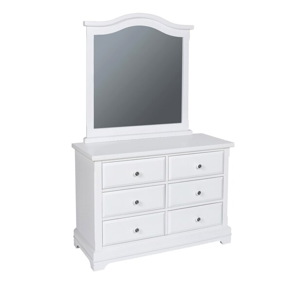 Schaaf 6 Drawer Double Dresser with Mirror by Harriet Bee
