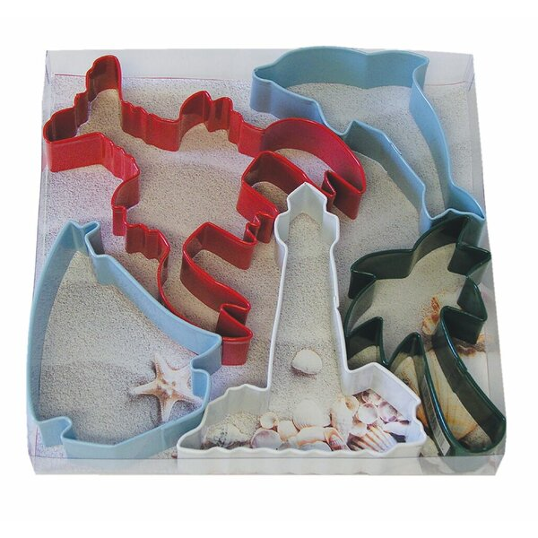 5 Piece Beach Cookie Cutter Set by R & M International Corp.