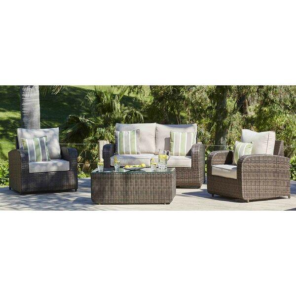 Perillo 4 Piece Sofa Set with Cushions by Latitude Run
