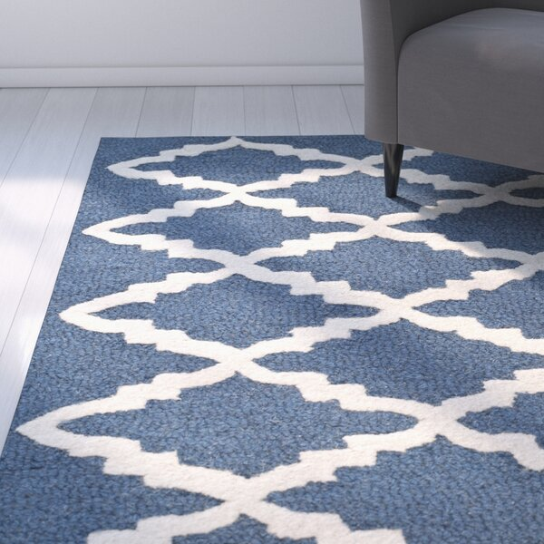 Charlenne Wool Navy / Ivory Area Rug by Zipcode Design