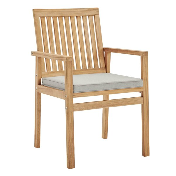 Koa Teak Patio Dining Chair with Cushion by Rosecliff Heights