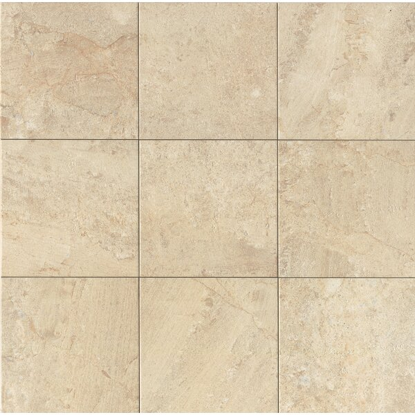 Classic Moderne 18 x 18 Porcelain Field Tile in Crème by Grayson Martin