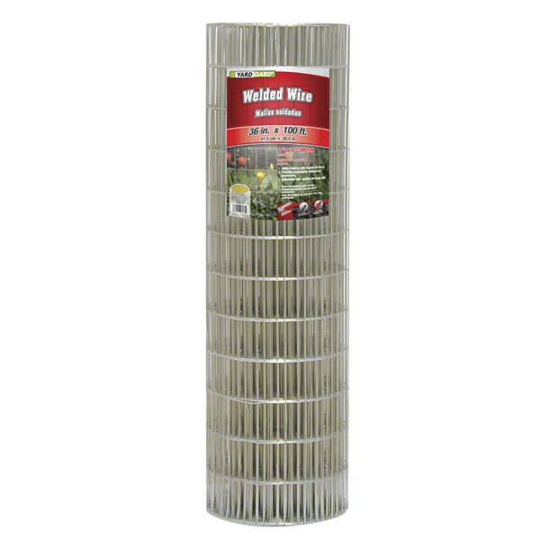 1 ft. H x 3 ft. W 14 Gauge Galvanized Welded Fencing by YARDGARD