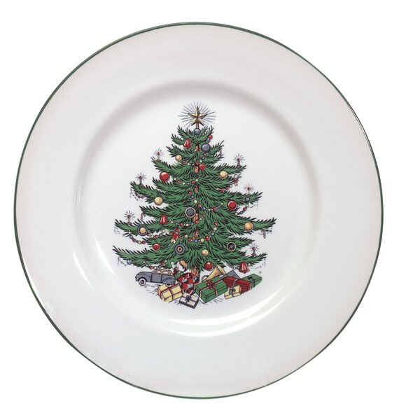 Original Christmas Tree 11 Traditional Dinner Plate (Set of 4) by The Holiday Aisle