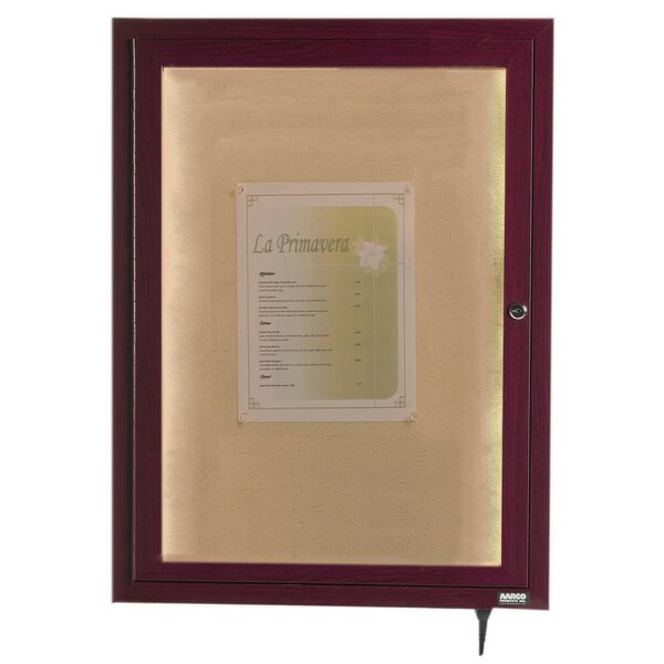 LED Lighted Enclosed Wall Mounted Bulletin Board by AARCO