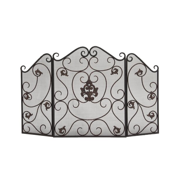 3 Panel Iron Fireplace Screen by Cole & Grey