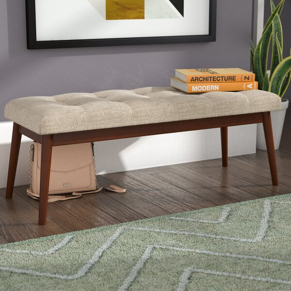 Bullock Van Dyke Mid Century Wood Bench by George Oliver