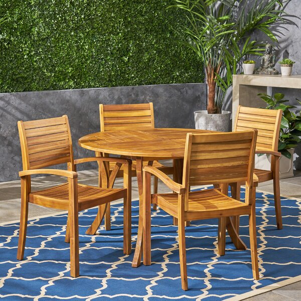 Wynsum 5 Piece Dining Set by Bay Isle Home