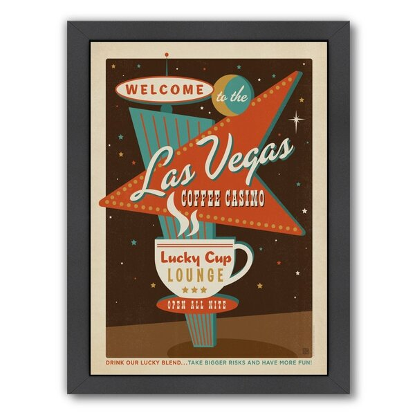 Coffee Las Vegas Coffee Framed Vintage Advertisement by East Urban Home