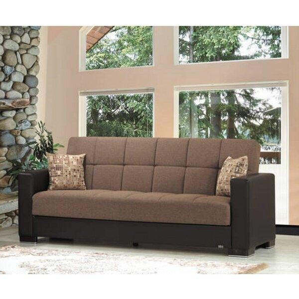 Garden City Chenille 88 inches Square Arms Sleeper by Ebern Designs Ebern Designs