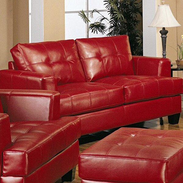 Granville Bonded Leather Loveseat by Ebern Designs