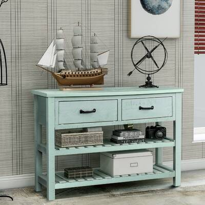 Highland Dunes Mickle 45 Solid Wood Console Table Wayfair