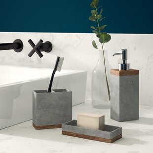 Find Stonington Concrete Stone 3 Piece Bathroom Accessory Set By Greyleigh