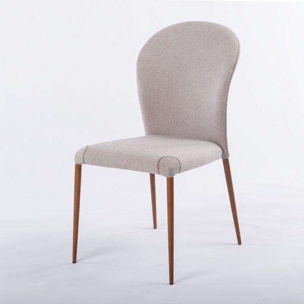 Kamryn Upholstered Side Chair in Beige (Set of 4) by Brayden Studio Brayden Studio