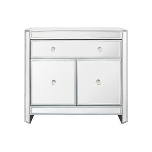 Huddleston 2 Door Mirrored Accent Cabinet