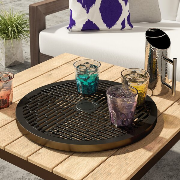 Oloughlin Cast Top Lazy Susan by Brayden Studio