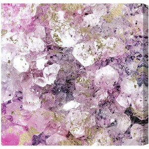 'Crystal Romance' Painting Print on Canvas by Willa Arlo Interiors