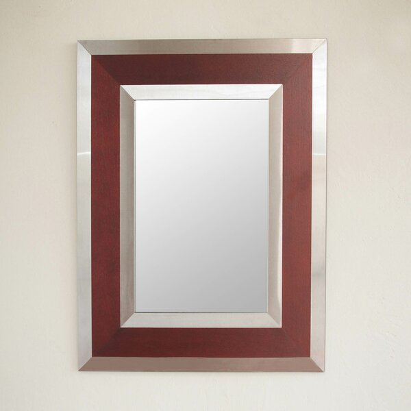 Modern Warmth Modern Andean Framed in Wood and Steel Wall Mirror by Novica