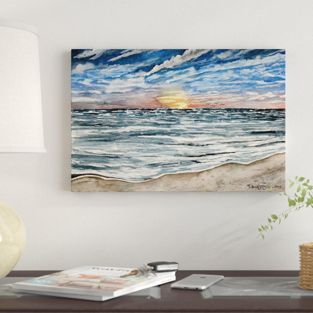 'Sunset Seascape' Unavailable on Canvas