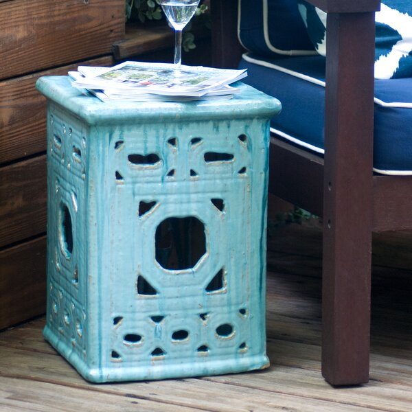 Lattice Square Frame Garden Stool by Emissary Home