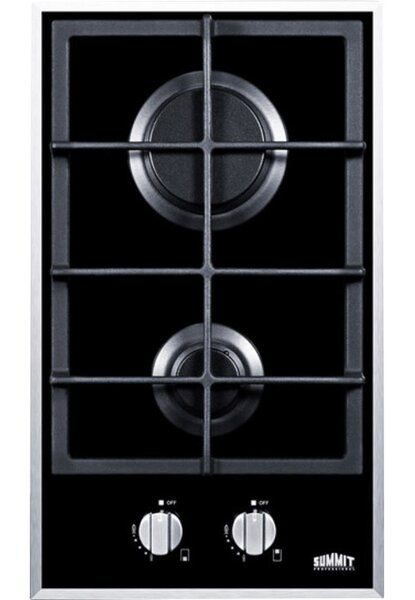 Summit 12 Gas Cooktop with 2 Burners by Summit Appliance