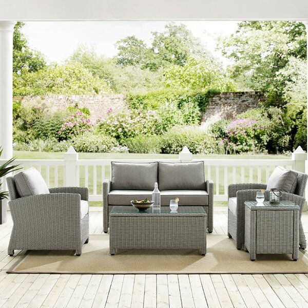 Lawson 5 Piece Rattan Sofa Seating Group with Cushions by Birch Lane™ Heritage