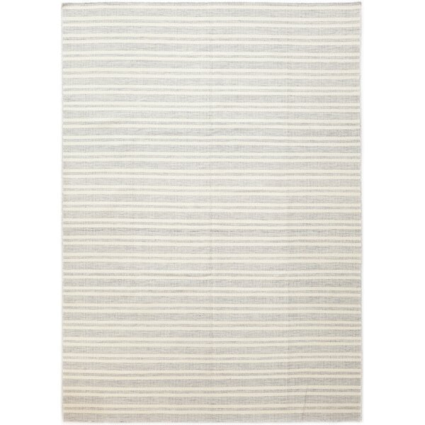 One-of-a-Kind DeKalb Hand-Knotted Wool White/Gray Indoor Area Rug by Isabelline