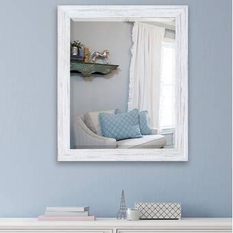 East Urban Home Whirl Geometric Pattern Xii Modern Frameless Wall Mirror Wayfair