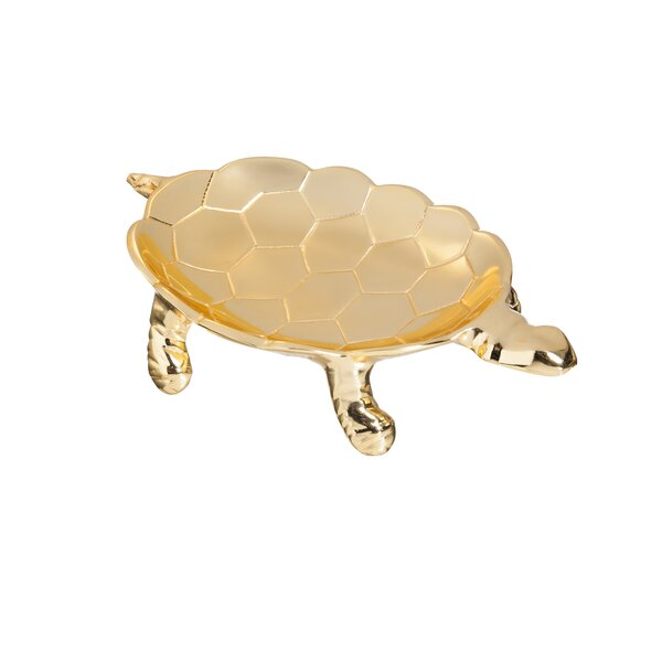 Walley Tortoise Aluminum Trinket Dish by House of Hampton