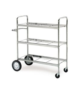 Extra Long Triple Decker File Cart by Charnstrom