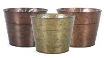 Innes Metal Pot Planter by August Grove
