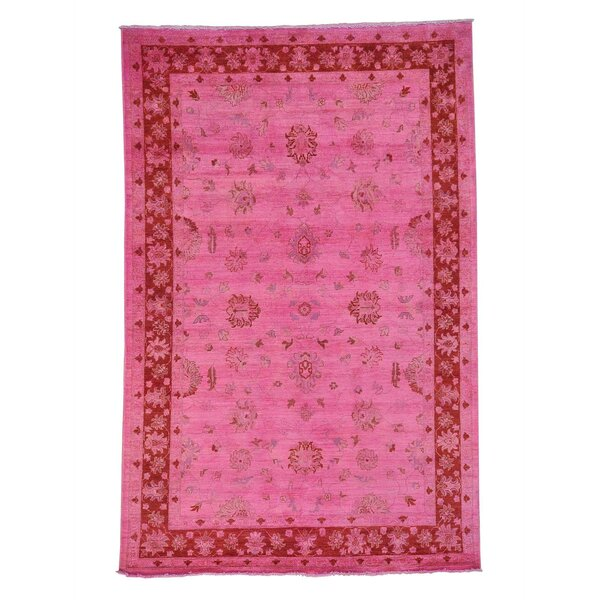One-of-a-Kind Zuzanna Overdyed Cast Hand-Knotted Pink Area Rug by Bungalow Rose