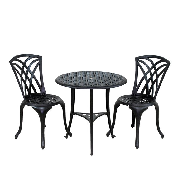Bentonville 3 Piece Bistro Set By August Grove