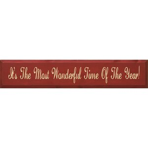 It's The Most Wonderful Time Of The Year Textual Art Plaque by Sawdust City