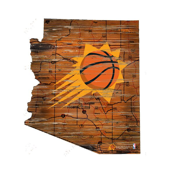 NBA Suns Distressed State Wall Décor by Fan Creations