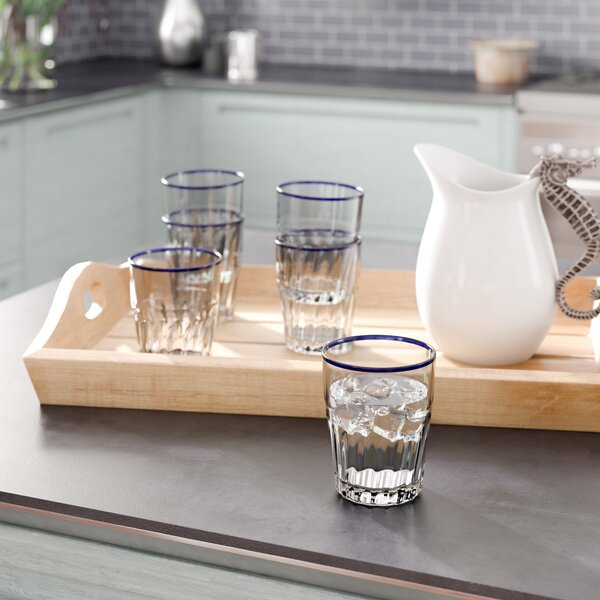 Lincolnville 15 oz. Acrylic Cocktail Glasses (Set of 6) by Beachcrest Home