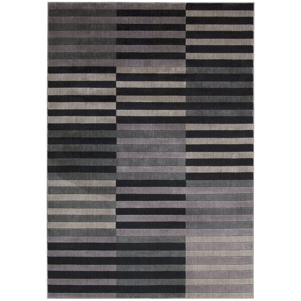Kaiti Hand Woven Black/Gray Area Rug by Orren Ellis