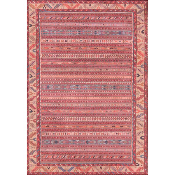 Monomoy Red Area Rug by Bloomsbury Market