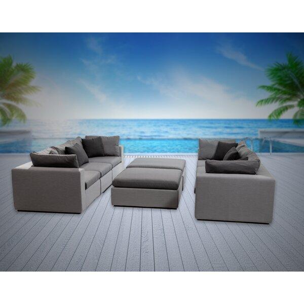 Malani 8 Piece Sunbrella Sofa Seating Group with Sunbrella Cushions Brayden Studio W001291585